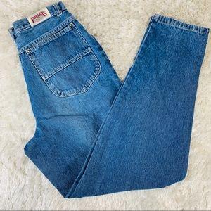 "Vintage High Waist Pleat Front Mom Jeans 28"" waist"